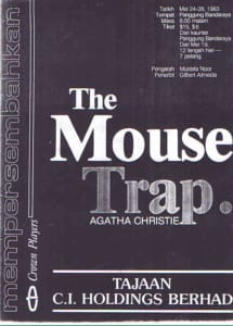 1983, The Mouse Trap: Programme Cover