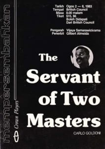 1983, The Servant of Two Masters: Programme Cover