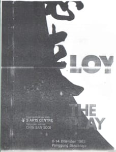 1985, Yap Ah Loy: Programme Cover
