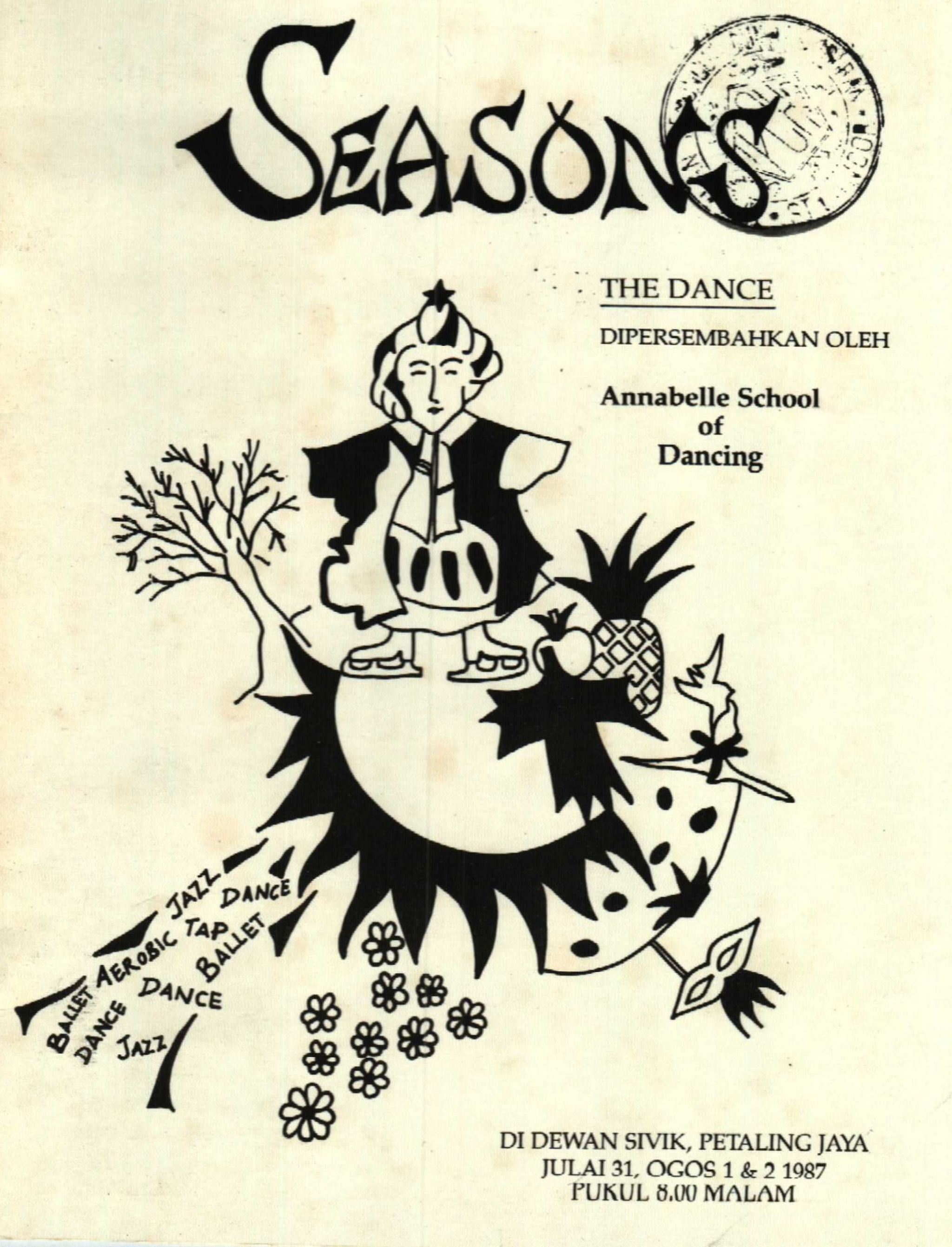 1987 Seasons The Dance Cover