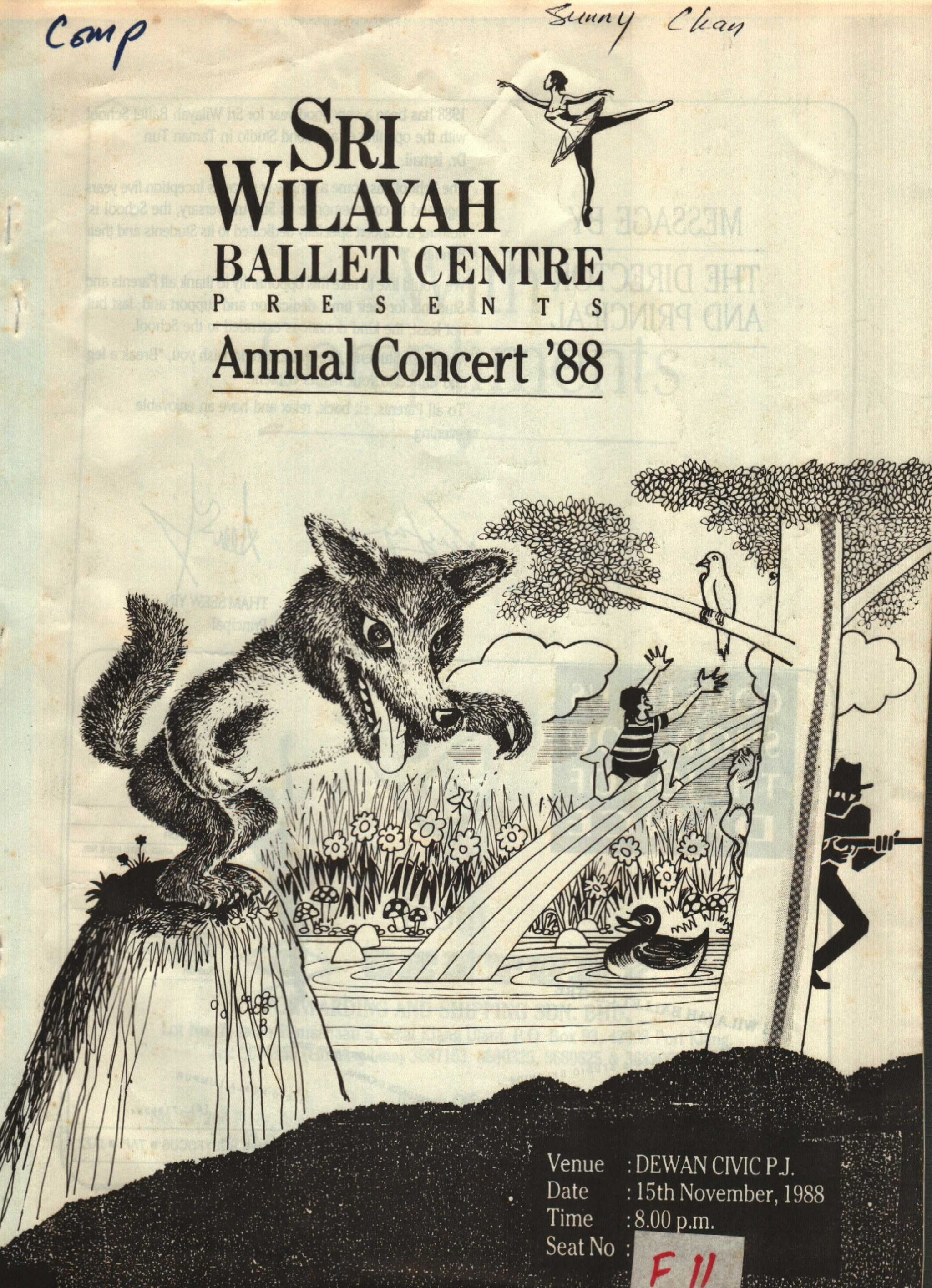 1988 Annual Concert88 Cover