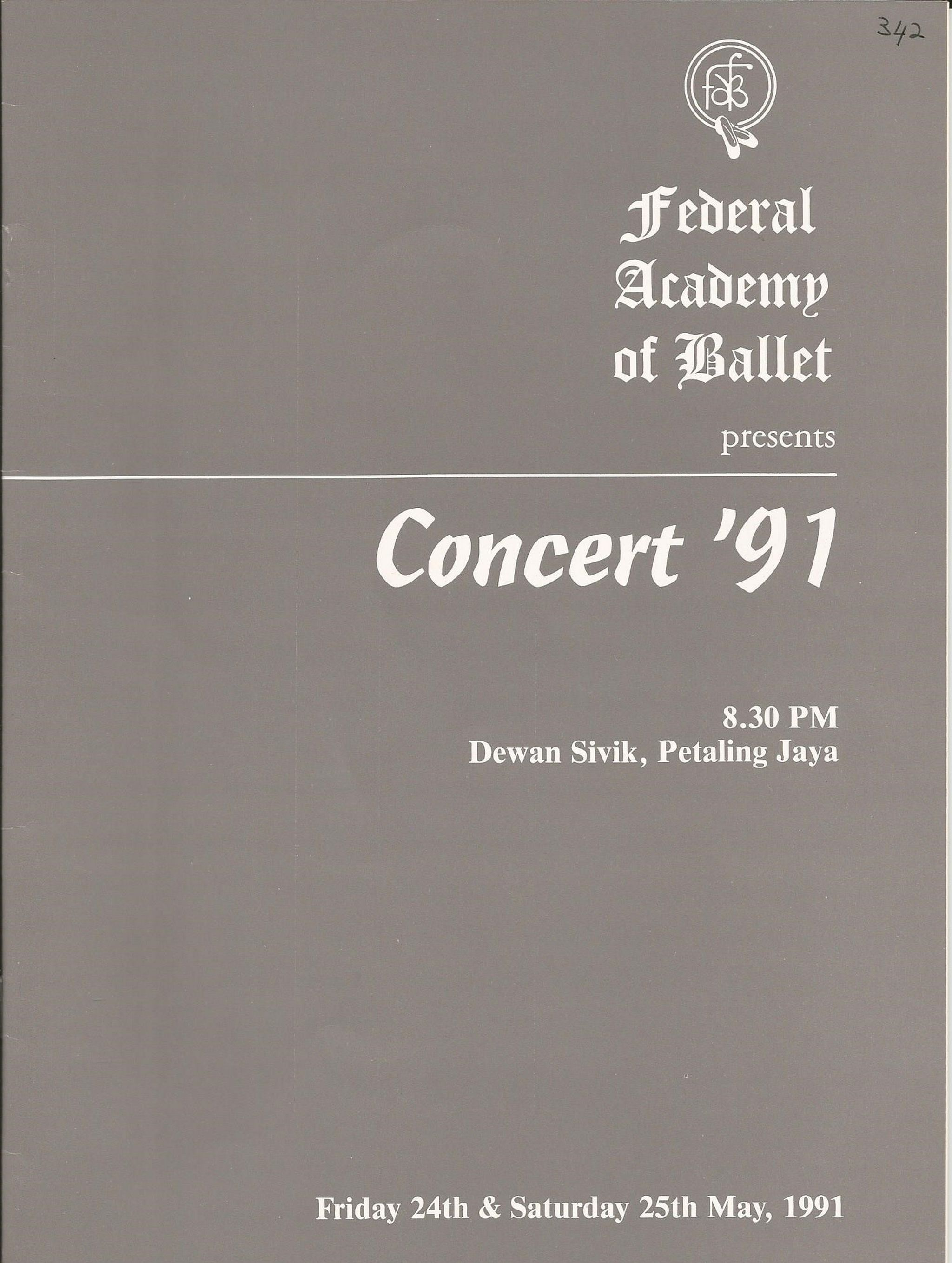1991 Concert91 Cover