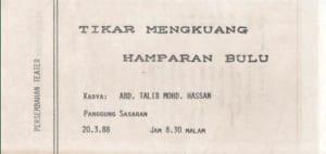 1988, Tikar Mengkuang Hamparan Baru: Programme Cover