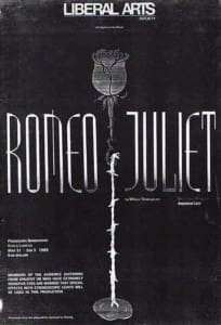 1989, Romeo and Juliet: Programme Cover