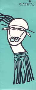 1989, Peter's Passionate Pursuit: Programme Cover