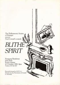 1989, Blithe Spirit: Programme Cover