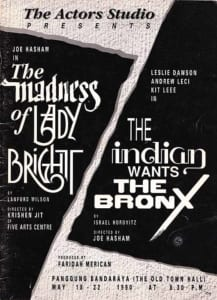 1990, Madness Of Lady Bright | Indian Wants The Bronx: Programme Cover