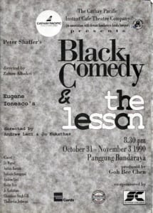 1990, Black Comedy | The Lesson: Programme Cover