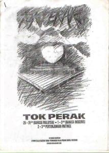 1991, Tok Perak: Programme Cover