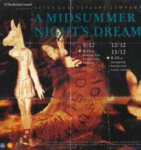1991, A Midsummer Nights Dream: Programme Cover