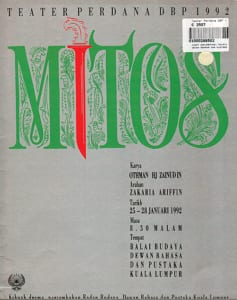 1992, Mitos: Programme Cover