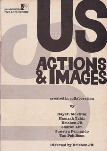1993, US - Actions & Images: Programme Cover