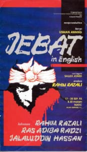 1993, Jebat: Programme Cover