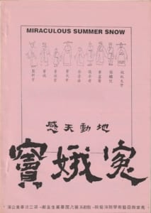 1993 Miraculous Summer Snow Program Cover
