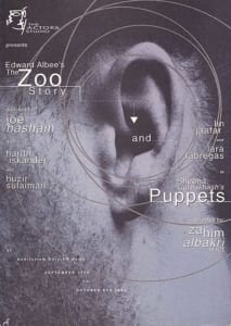 1994, The Zoo Story | Puppets: Programme Cover