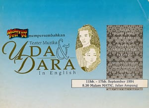 1994, Uda dan Dara English: Programme Cover