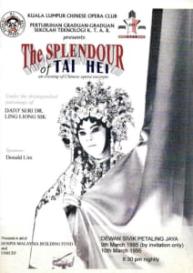 1995, The Splendour Of Tai Hei: Programme Cover