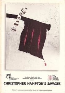 1995, Savages: Programme Cover