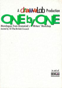 1995, One by One: Programme Cover
