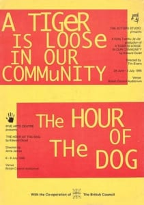 1995, A Tiger Is Loose in Our Community | Hour Of The Dog: Programme Cover