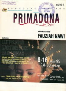 1995, Primadona: Programme Cover