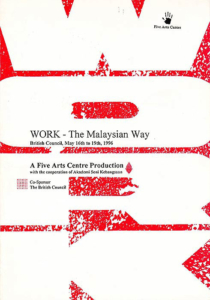 1996, Work The Malaysian Way: Programme Cover