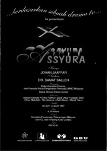 1997, Assyura: Programme Cover