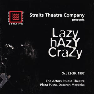 1997, Lazy Crazy Hazy: Programme Cover