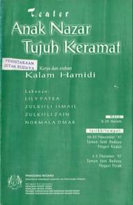 1997, Anak Nazar Tujuh Keramat: Programme Cover
