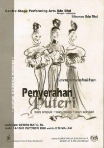 1998, Penyerahan Puteri: Programme Cover