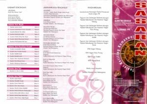 1998, Teater Keliling Komanwel Sasaran: Programme Outer Pages