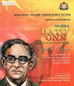 1999, Muzika Dato Onn: Programme Cover