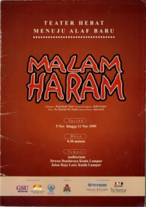 1999, Malam Haram: Programme Cover