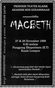 1999, Macbeth: Programme Cover