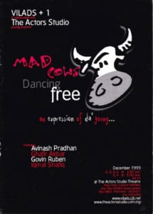 1999, Mad Cows Dancing Free: Programme Cover
