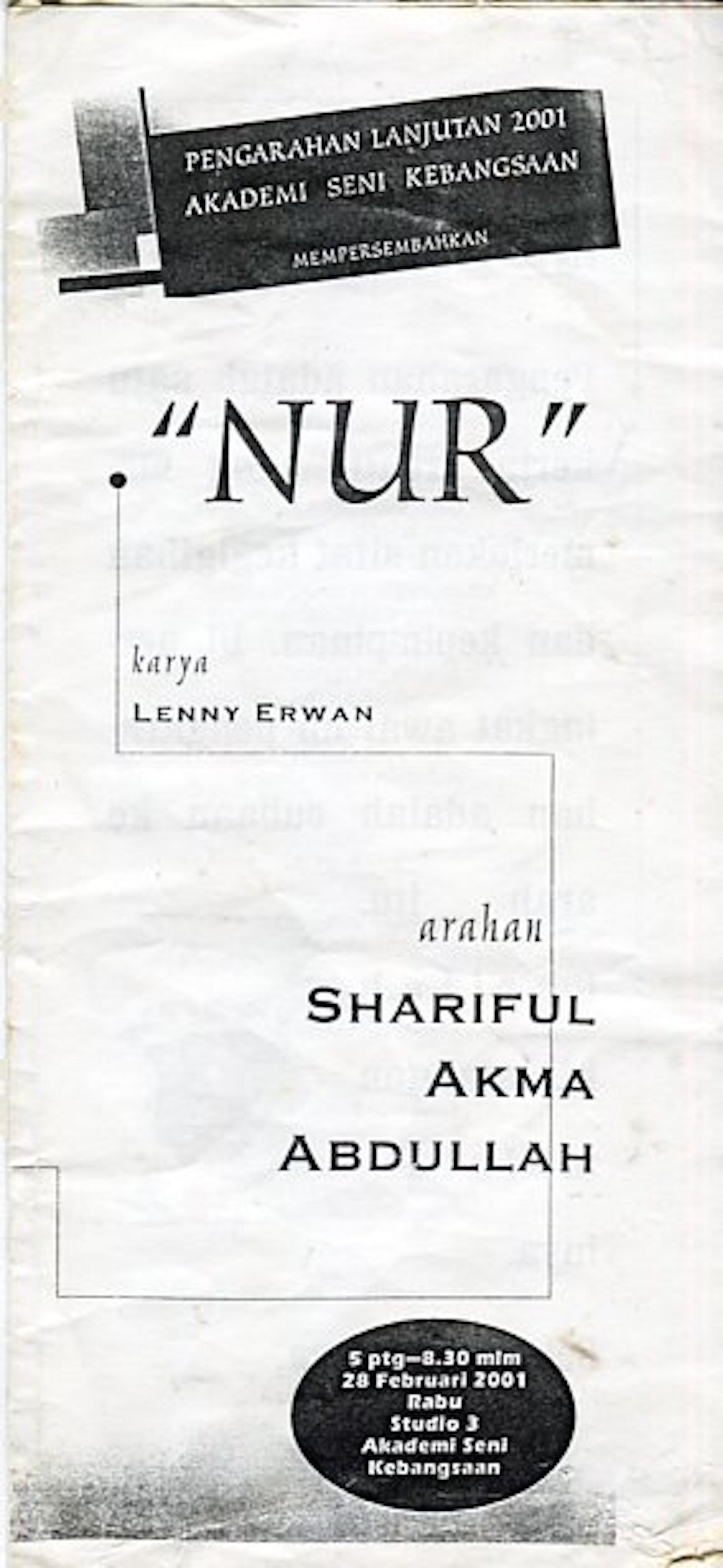 2001 Nur cover