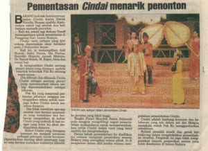 2001, Cindai Revival: News Article