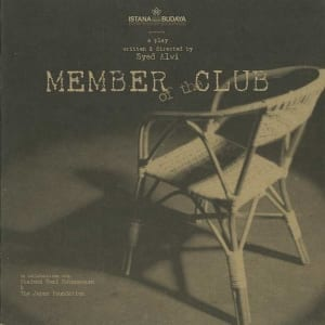 2001, Member Of The Club: Programme Cover