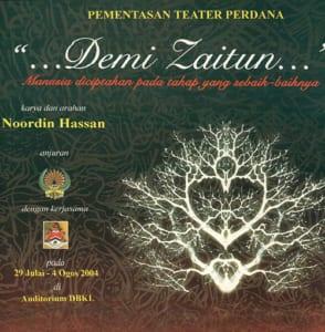 2004, Demi Zaiton: Programme Cover