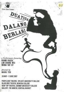 2007, Dua Tiga Dalang Berlari: Programme Cover