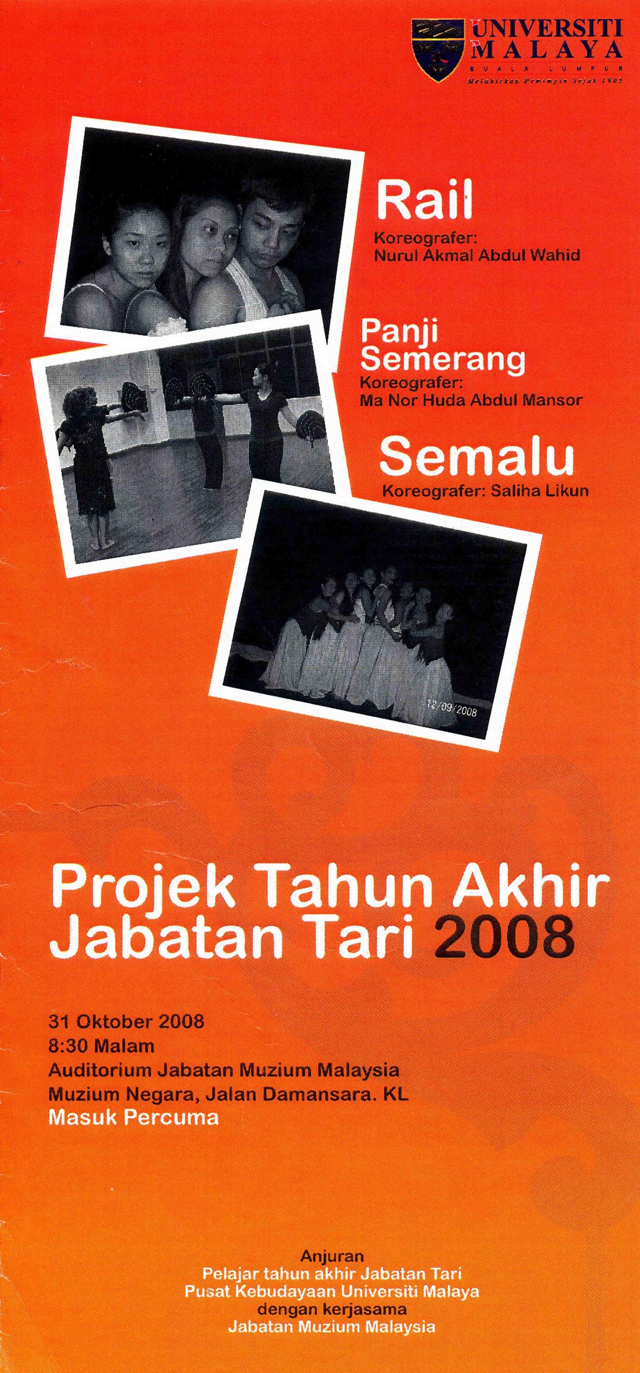 2008 Projek Tahun Akhir Jabatan Tari Cover