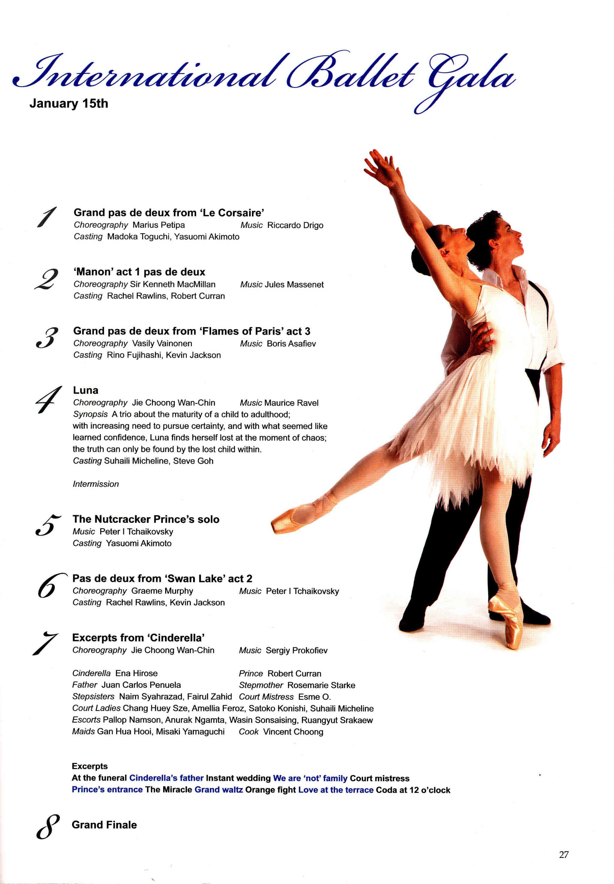 2011 International Ballet Gala Performance