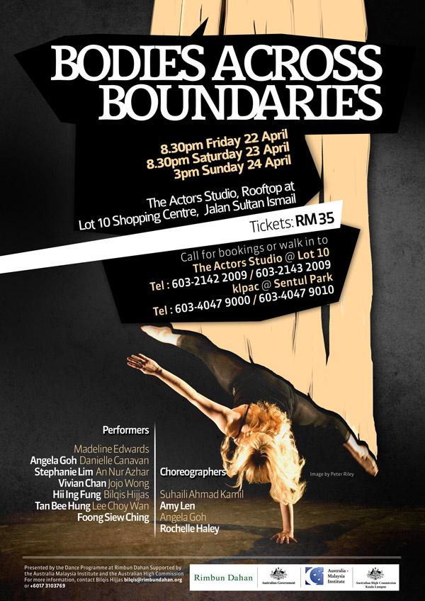 2001 Bodies Across Boundaries Poster