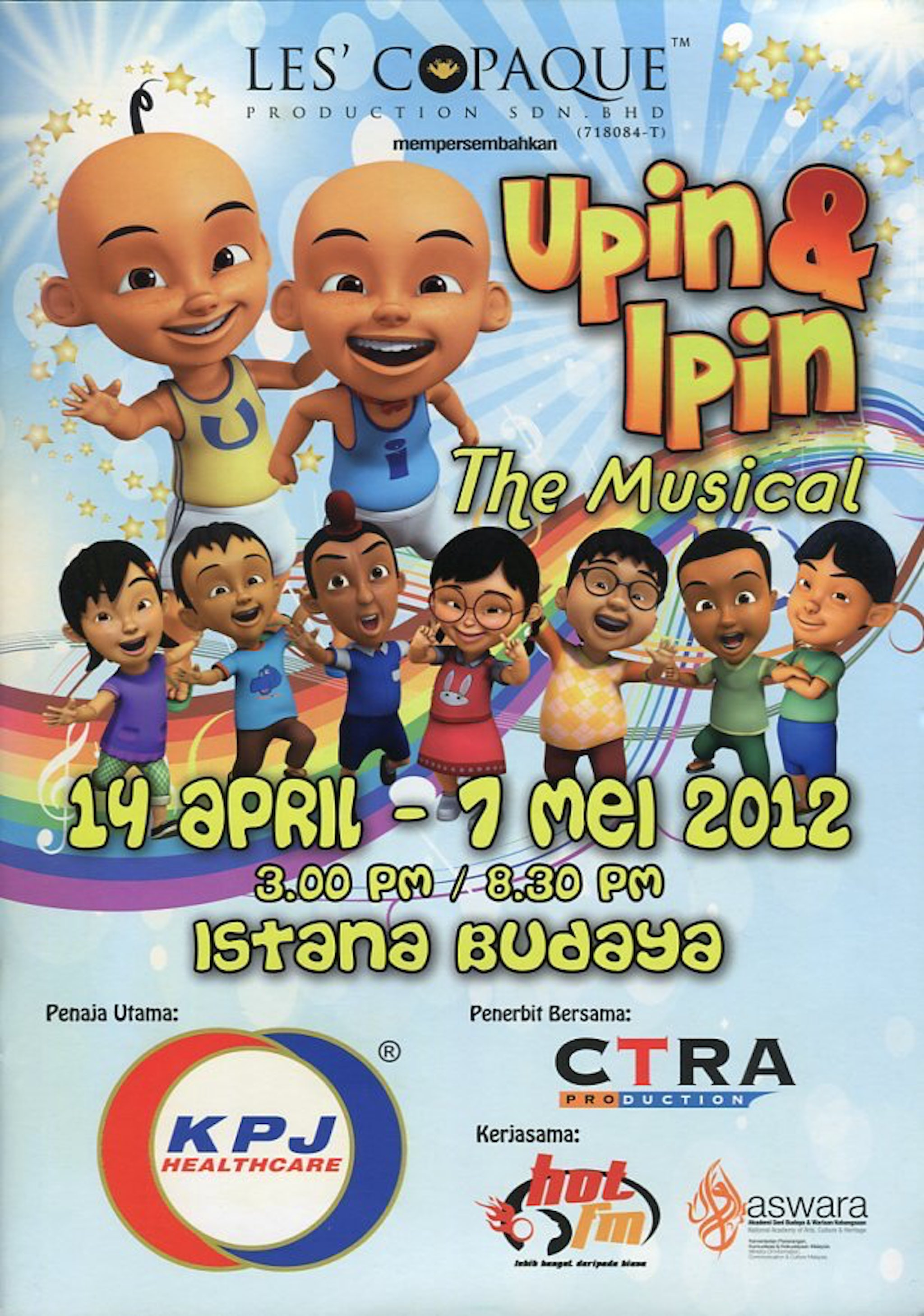 2012 Upin & Ipin The Musical cover