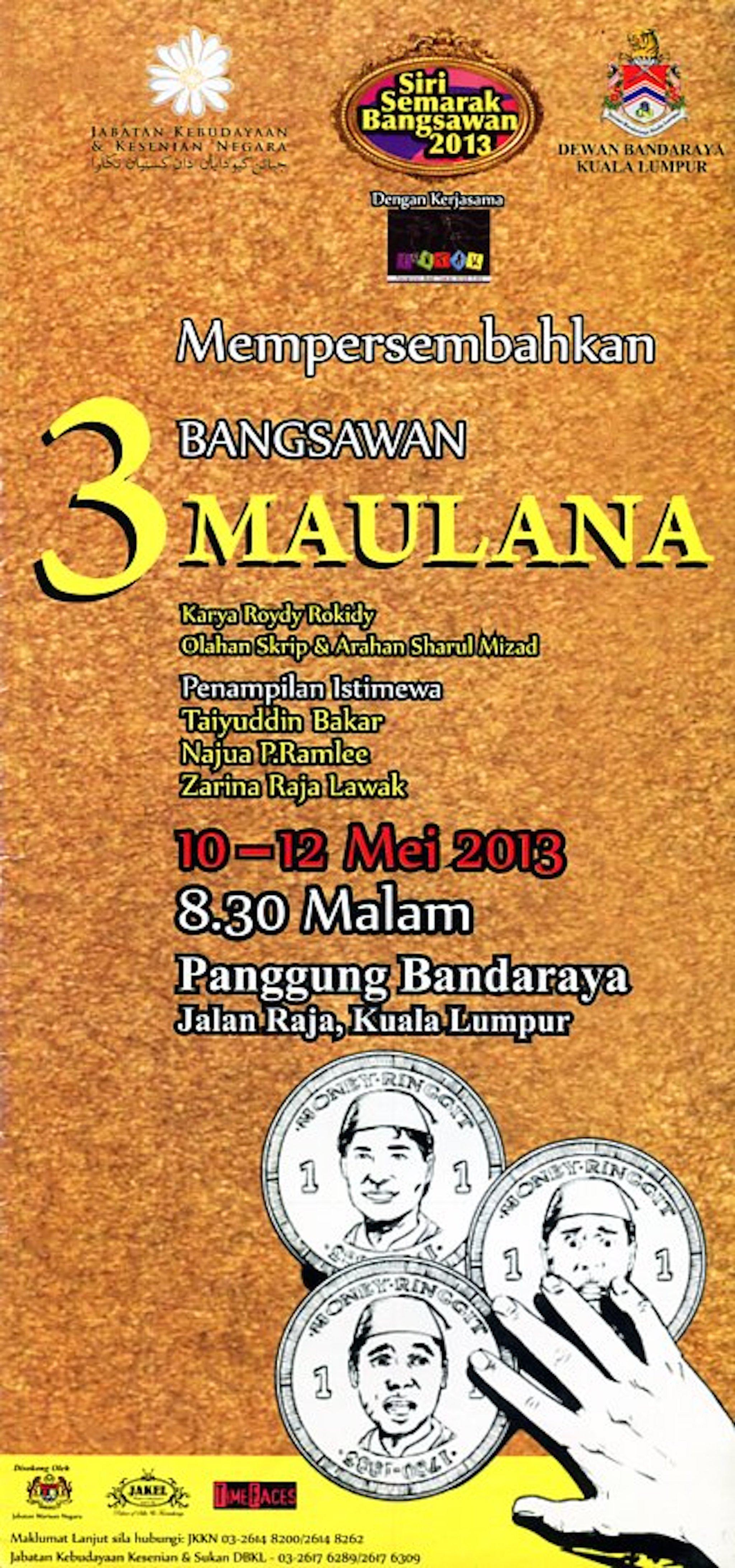 2013 Bangsawan Tiga Maulana cover