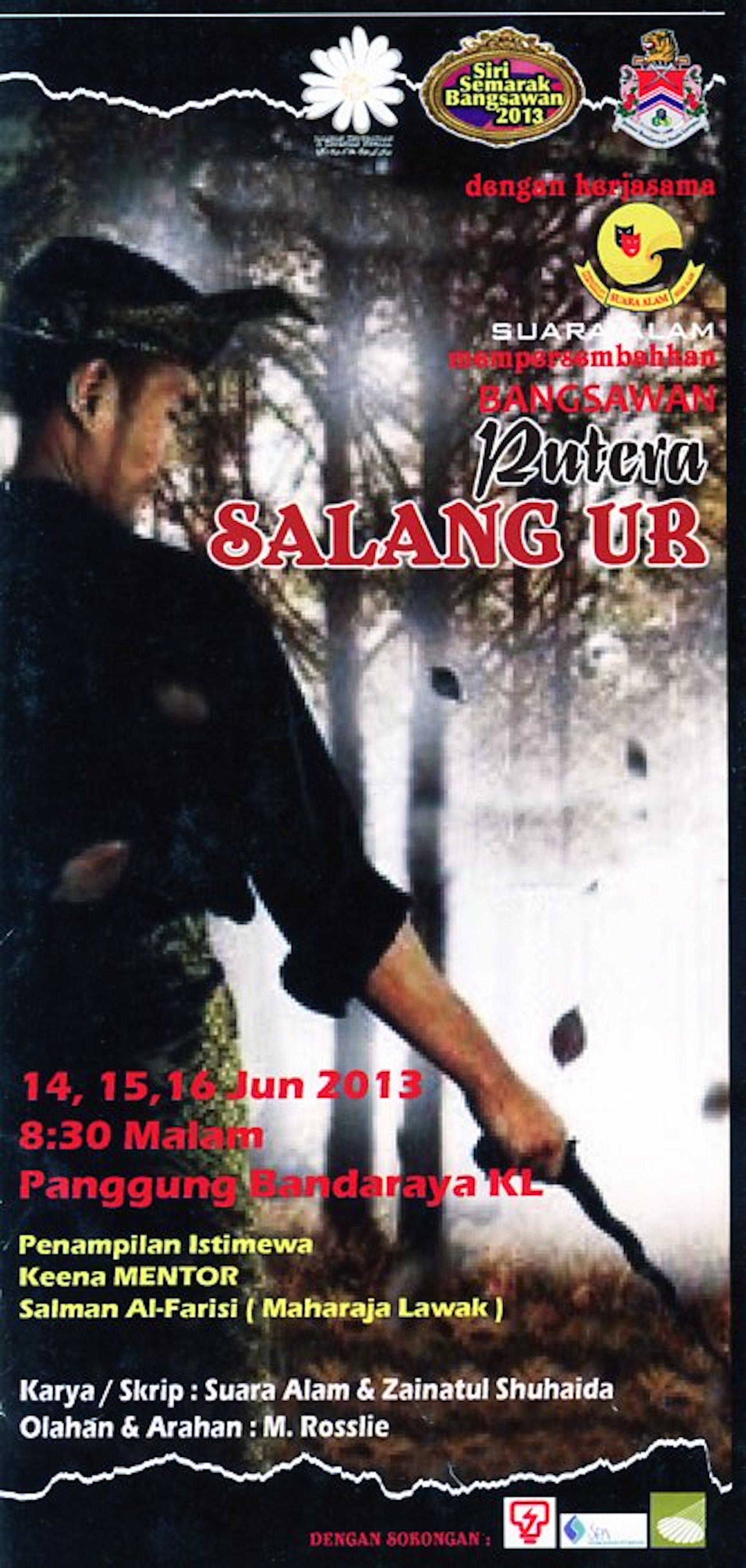 2013 Bangsawan Putera Salang Ur cover