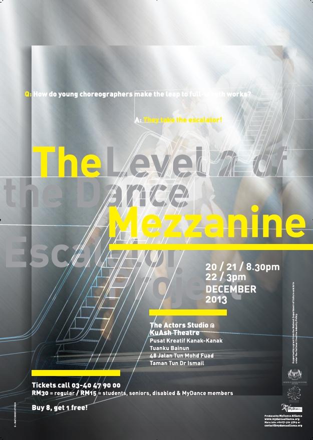 2013 The Level 2 of The Dance Mezzanine Esclator Project Poster