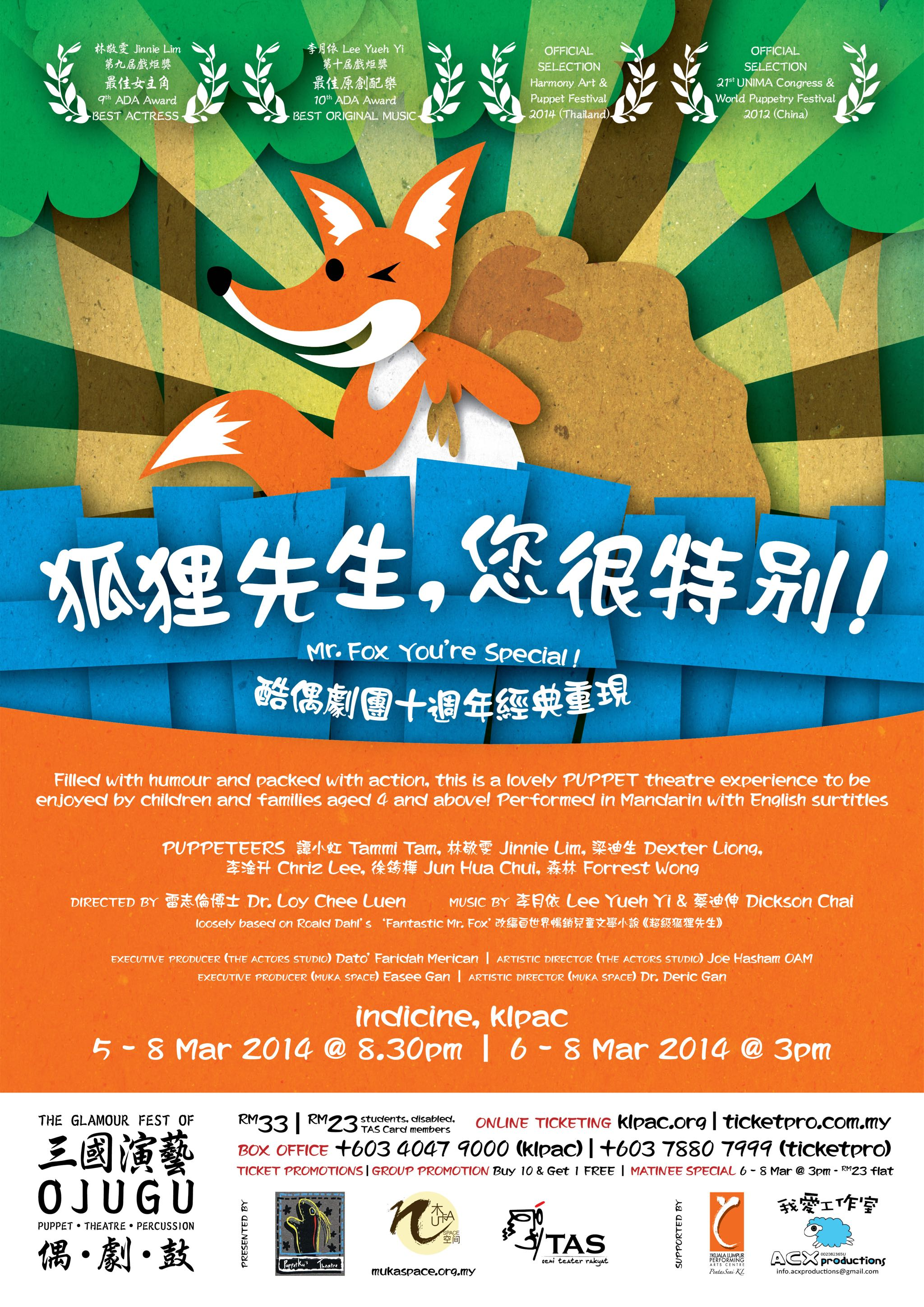2014 Mr Fox Your'e Special Poster