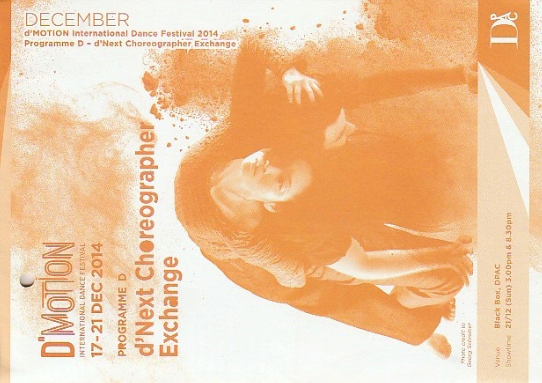 2014 DMotion Programme D dNext Choreographer Cover