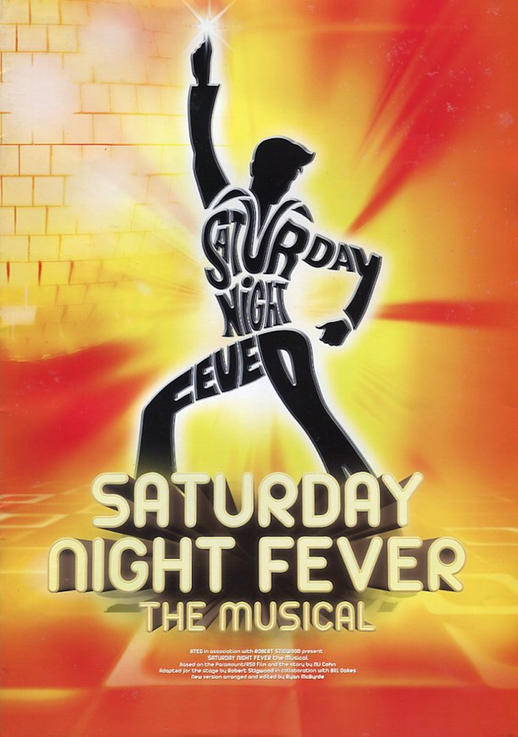 2015 Saturday Night Fever The Musical cover